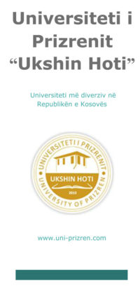 "Universiteti i Prizrenit ""Ukshin Hoti """
